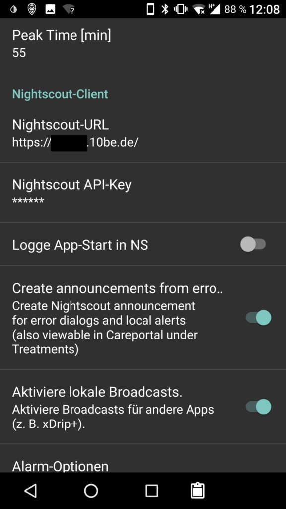 AndroidAPS Settings 6